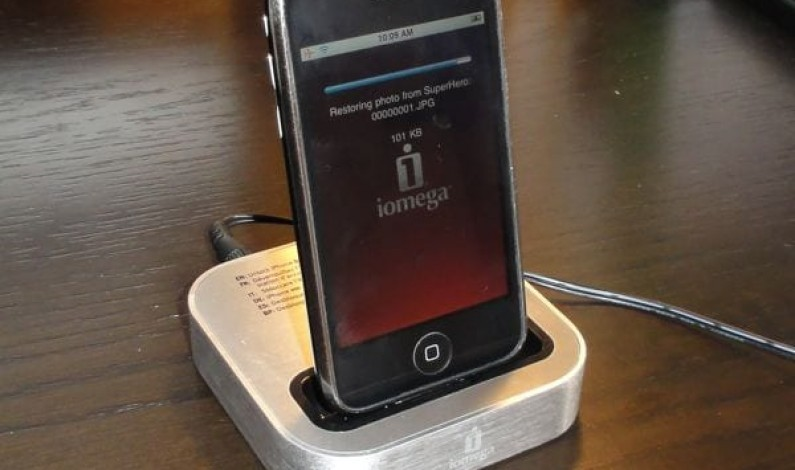 iOmega'dan bilgisayarsız iPhone yedekleme cihazı