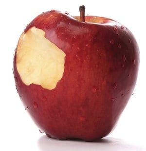 Red apple bite