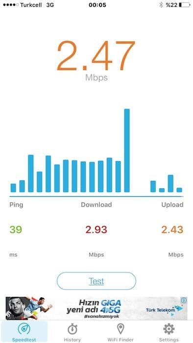 TKNLJ yurtdisi 3G test