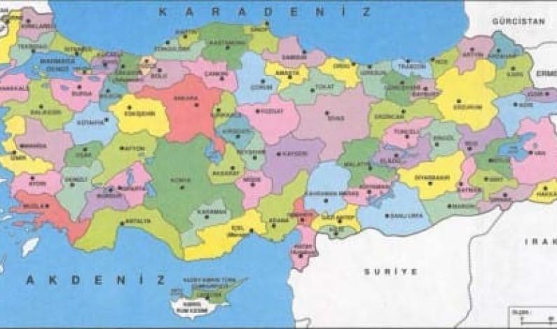 Türkiye'nin il il telefon ve internet haritası